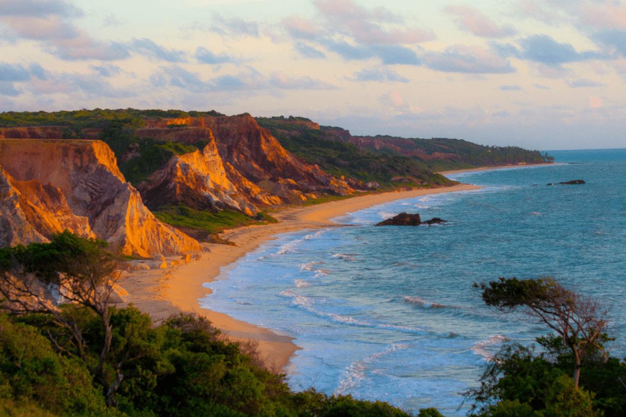 Praia de Tambaba na Paraíba
